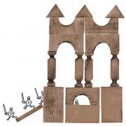 Gnoma Building Blocks - 1922  дизайн: Станислав Ноаковски  произведено от: Gnom Industrial Toy Plant / Инструменти и малки дървени сувенири във Варшава