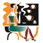 Kula Coffee Service Set - 1932  дизайн: Богдан Уендорф  произведен: Ćmielów Porcelain and Ceramics Factory PLC