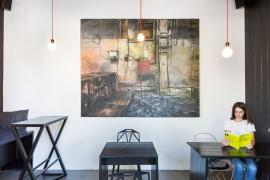 Изглед от изложбения проект на Димитър Генчев, представен в Artnewscafe, снимка Мария Джелелбова
